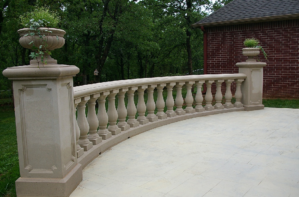 Stone Columns On Front Porch